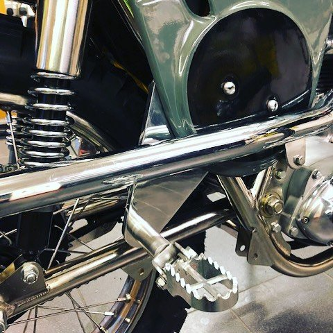 Matisse Steve McQueen Desert Racer extended rear foot rest hanger