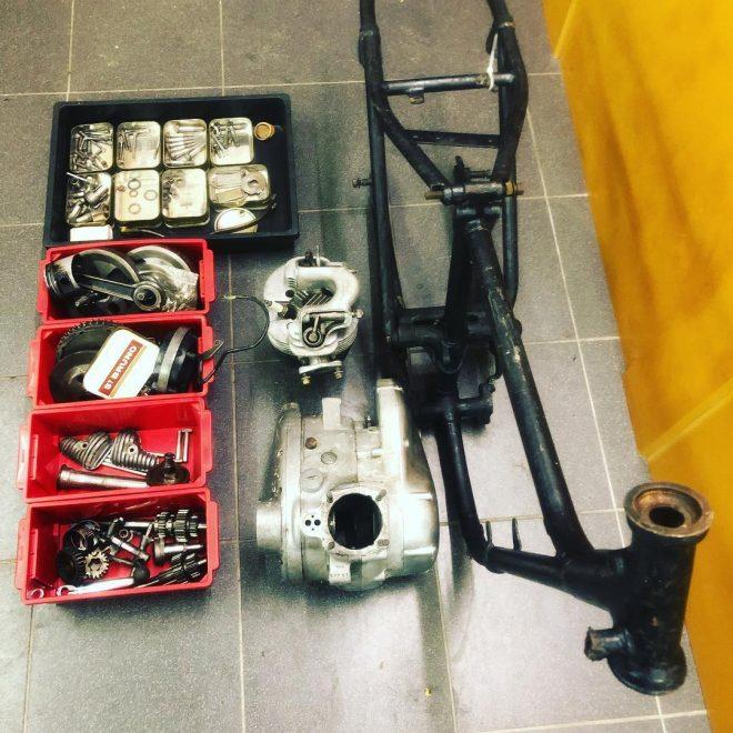 Triumph Tiger Cub Trials in the making