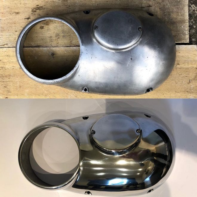 Matchless G2 timing side engine cover B&A