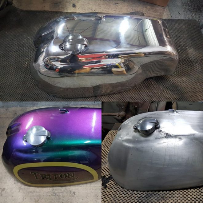 Triton alloy tank stripped, prepped and polished